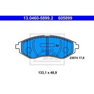 ATE 13.0460-5899.2 Комплект тормозных колодок, дисковый тормоз Дэу Калос