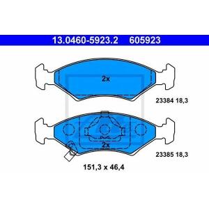 ATE 13.0460-5923.2 Комплект тормозных колодок, дисковый тормоз Киа Сефия