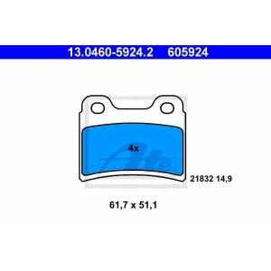 ATE 13.0460-5924.2 Комплект тормозных колодок, дисковый тормоз Киа Сефия