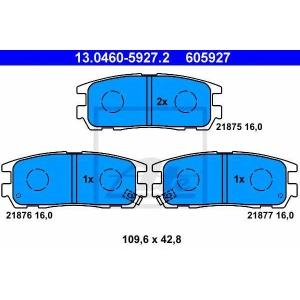 ATE 13.0460-5927.2 Комплект тормозных колодок, дисковый тормоз Опель Фронтера