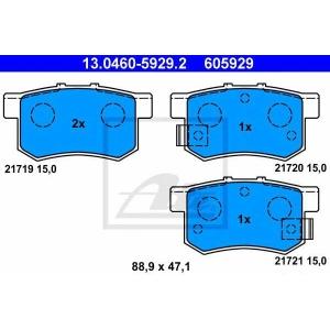 ATE 13.0460-5929.2 Комплект тормозных колодок, дисковый тормоз Фиат Седики