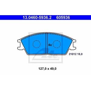 ATE 13.0460-5936.2 Комплект тормозных колодок, дисковый тормоз Хюндай Акцент