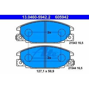 ATE 13.0460-5942.2 Комплект тормозных колодок, дисковый тормоз Исузу Трупер