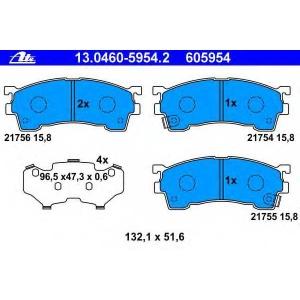 ATE 13.0460-5954.2 Комплект тормозных колодок, дисковый тормоз Мазда Кседос 6