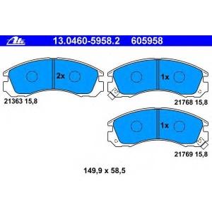 ATE 13.0460-5958.2 Комплект тормозных колодок, дисковый тормоз Ситроен С Кроссер