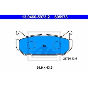 ATE 13.0460-5973.2 Комплект тормозных колодок, дисковый тормоз Мазда Кседос 6