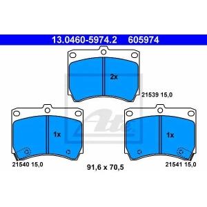 ATE 13.0460-5974.2 Комплект тормозных колодок, дисковый тормоз Мазда М-Икс