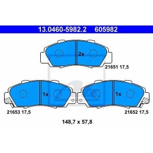 ATE 13.0460-5982.2 Комплект тормозных колодок, дисковый тормоз Хонда Хрв