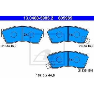 ATE 13.0460-5985.2 13.0460-5985.2 Гальмівні колодки ATE (шт.)
