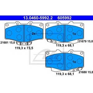 ATE 13046059922 Brake pads
