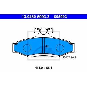 ATE 13.0460-5993.2 Комплект тормозных колодок, дисковый тормоз Дэу Леганза
