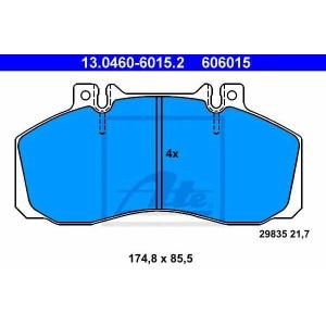 Комплект тормозных колодок, дисковый тормоз 13046060152 ate - MERCEDES-BENZ T2/LN1 фургон/универсал фургон/универсал 609 D (668.061, 668.062, 668.063)