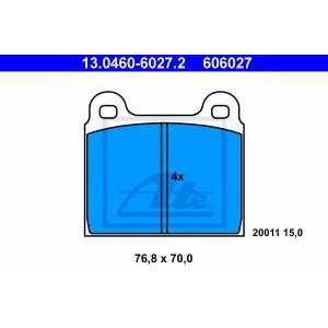 ATE 13.0460-6027.2 Комплект тормозных колодок, дисковый тормоз Мерседес Кабриолет