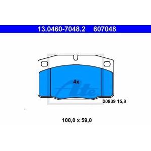 ATE 13.0460-7048.2 Комплект тормозных колодок, дисковый тормоз Опель Аскона