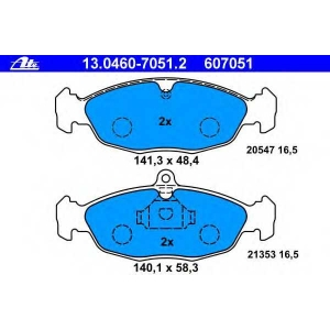 ATE 13.0460-7051.2 Комплект тормозных колодок, дисковый тормоз Опель Корса