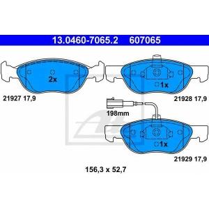 ATE 13.0460-7065.2 Комплект тормозных колодок, дисковый тормоз Фиат Брава