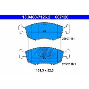 ATE 13.0460-7126.2 Комплект тормозных колодок, дисковый тормоз Фиат Страда