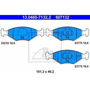 ATE 13.0460-7132.2 Комплект тормозных колодок, дисковый тормоз Фиат Палио