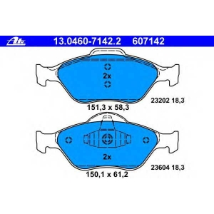 ATE 13.0460-7142.2 Комплект тормозных колодок, дисковый тормоз Форд Фьюжн