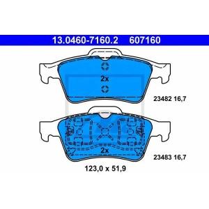 ATE 13.0460-7160.2 Комплект тормозных колодок, дисковый тормоз Форд Транзит Коннект