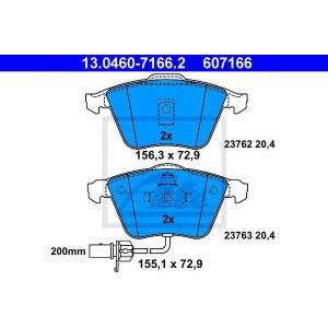 ATE 13.0460-7166.2 Комплект тормозных колодок, дисковый тормоз Ауди Оллроад