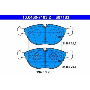ATE 13.0460-7183.2 Комплект тормозных колодок, дисковый тормоз Бмв З8