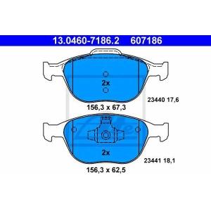 ATE 13.0460-7186.2 Комплект тормозных колодок, дисковый тормоз Форд Транзит Коннект