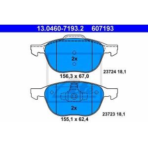 ATE 13.0460-7193.2 Комплект тормозных колодок, дисковый тормоз Форд Фокус Турниер