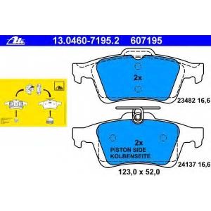 ATE 13.0460-7195.2 Комплект тормозных колодок, дисковый тормоз Форд Фокус Ц-Макс