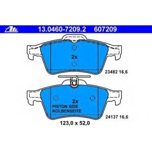 ATE 13.0460-7209.2 Комплект тормозных колодок, дисковый тормоз Ягуар