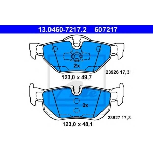 ATE 13.0460-7217.2 Комплект тормозных колодок, дисковый тормоз Бмв Х1