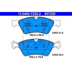 Комплект тормозных колодок, дисковый тормоз 13046072202 ate - MERCEDES-BENZ R-CLASS (W251, V251) вэн R 350 CDI 4-matic (251.023, 251.123)