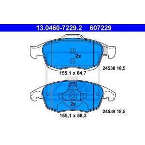 ATE 13.0460-7229.2 Комплект тормозных колодок, дисковый тормоз Ситроен С4 Пикасо