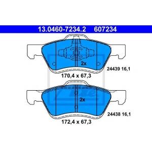 ATE 13.0460-7234.2 Комплект тормозных колодок, дисковый тормоз Мазда Трибут