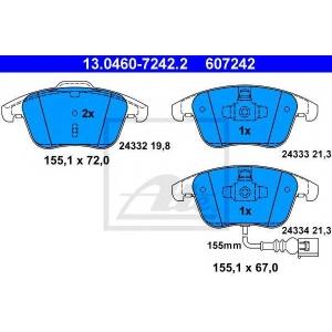 ATE 13.0460-7242.2 Комплект тормозных колодок, дисковый тормоз Ауди Кью 3