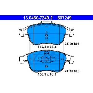 ATE 13.0460-7249.2 Комплект тормозных колодок, дисковый тормоз Рено Латитуде