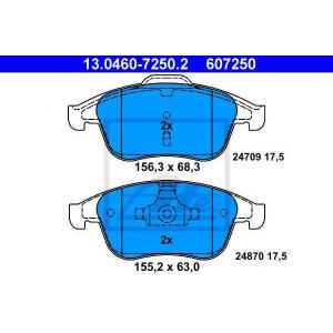 ATE 13.0460-7250.2 Комплект тормозных колодок, дисковый тормоз Рено Латитуде