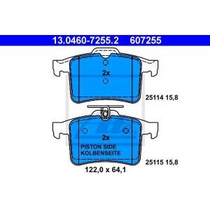 ATE 13.0460-7255.2 Комплект тормозных колодок, дисковый тормоз Ягуар