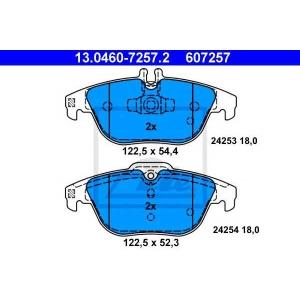 ATE 13.0460-7257.2 Комплект тормозных колодок, дисковый тормоз Мерседес Джт Л-Класс