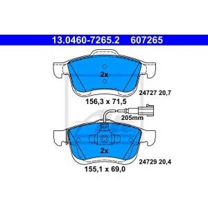 ATE 13.0460-7265.2 Комплект тормозных колодок, дисковый тормоз Фиат Добло