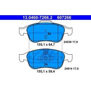 ATE 13.0460-7266.2 Комплект тормозных колодок, дисковый тормоз Дача Лоджи