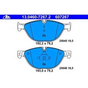 ATE 13.0460-7267.2 Комплект тормозных колодок, дисковый тормоз Бмв 5