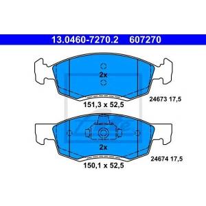 ATE 13.0460-7270.2 Комплект тормозных колодок, дисковый тормоз Дача Логан Mcb