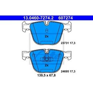 Комплект тормозных колодок, дисковый тормоз 13046072742 ate - BMW 7 (F01, F02, F03, F04) седан ActiveHybrid