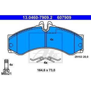 Комплект тормозных колодок, дисковый тормоз 13046079092 ate - MERCEDES-BENZ SPRINTER 2-t автобус (901, 902) автобус 208 D