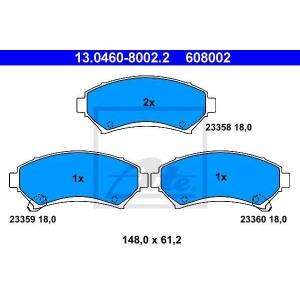 ATE 13.0460-8002.2 Комплект тормозных колодок, дисковый тормоз Опель Синтра