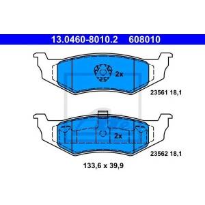 ATE 13.0460-8010.2 Комплект тормозных колодок, дисковый тормоз Крайслер Стратус