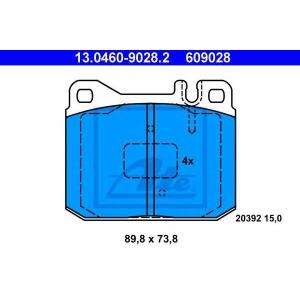 ATE 13.0460-9028.2 Комплект тормозных колодок, дисковый тормоз Мерседес Сл