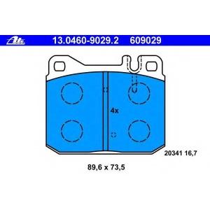 ATE 13.0460-9029.2 Комплект тормозных колодок, дисковый тормоз Мерседес С-Класс