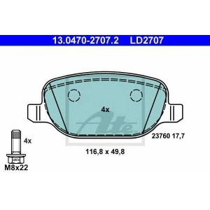 ATE 13.0470-2707.2 Комплект тормозных колодок, дисковый тормоз Лансия